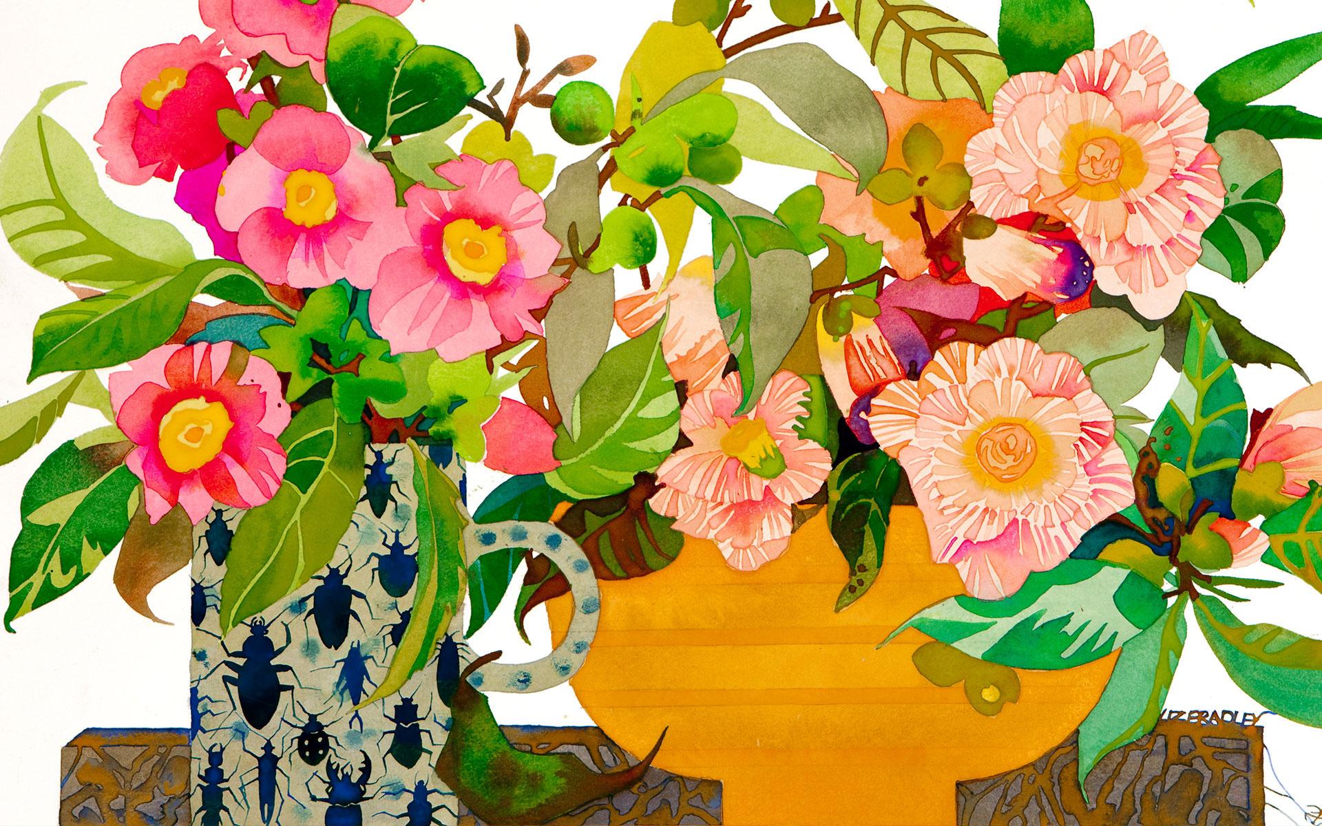 Liz Bradley Watercolour art